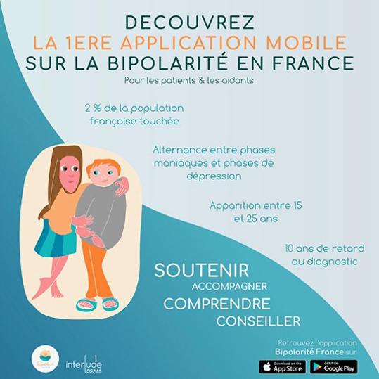 En savoir plus sur la bipolarité, télécharger notre application « Bipolarité France » :